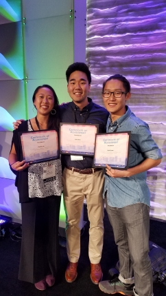 Colin Kim (MARC Scholar), Rachel Liu and David Lowe win poster awards at ABRCMS 2017